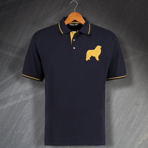 Great Pyrenees Embroidered Contrast Polo Shirt