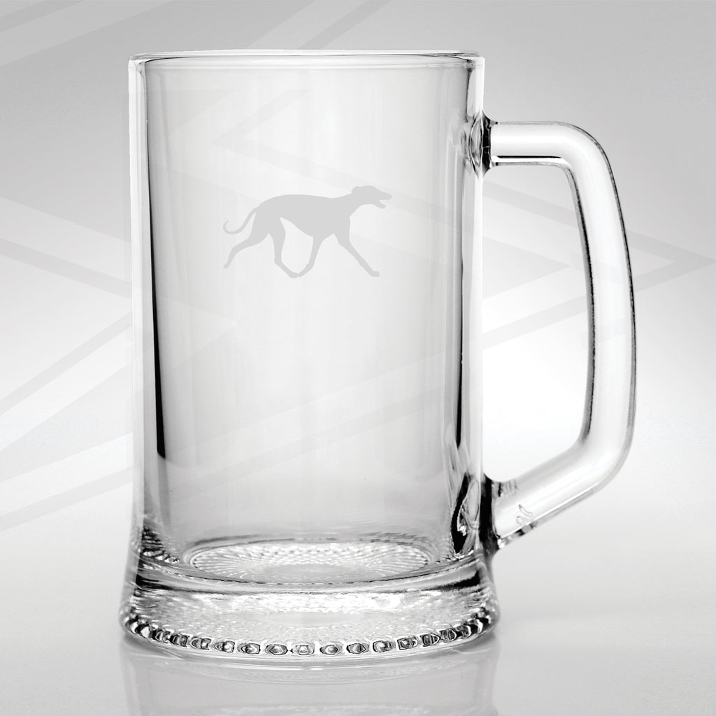 Greyhound Glass Tankard