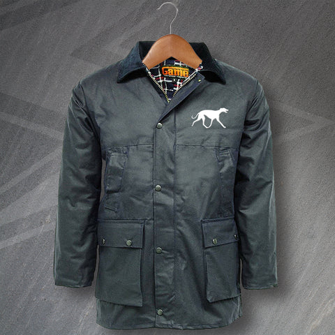 Greyhound Wax Jacket Embroidered Padded