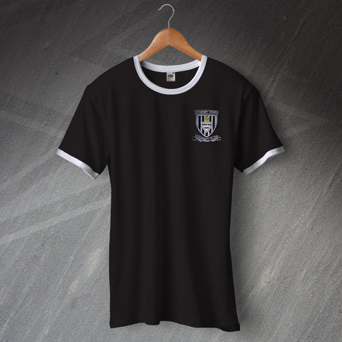 Grimsby Football Shirt Embroidered Ringer 1960s