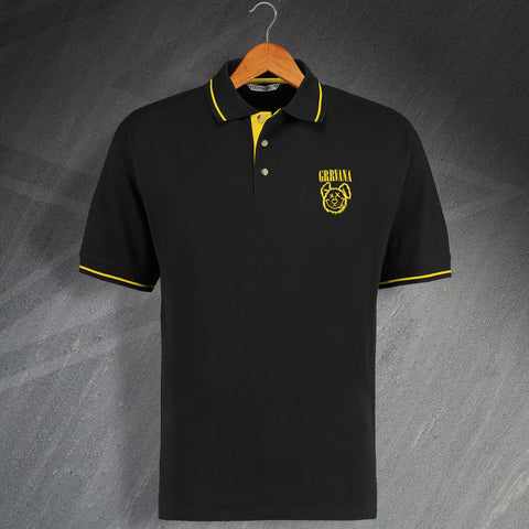 Grrvana Embroidered Contrast Polo Shirt