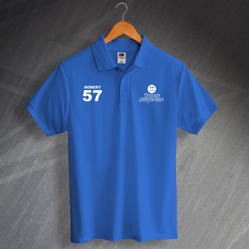Personalised Grumpy Old Gits Club Polo Shirt