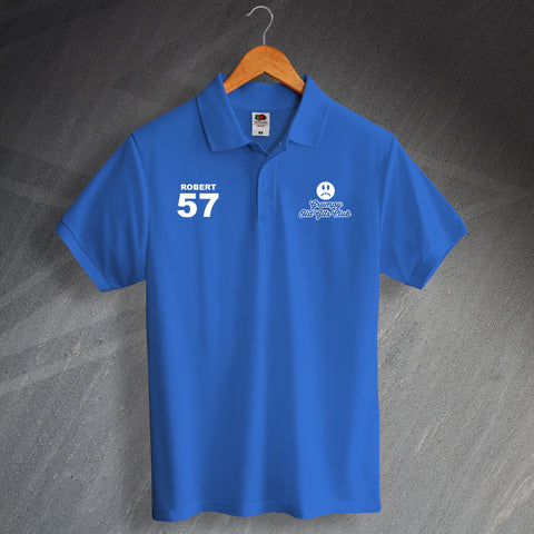 Grumpy Old Gits Club Printed Polo Shirt Personalised with Any Name & Number