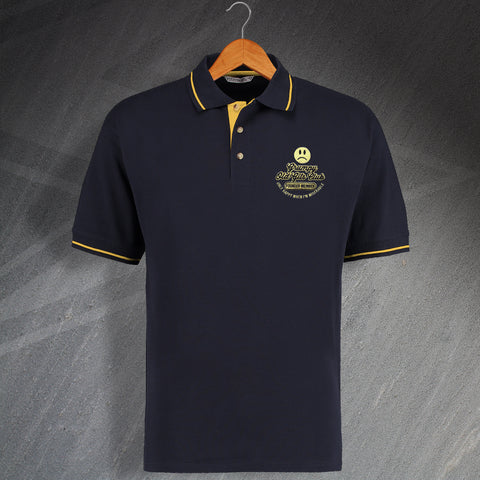 Grumpy Old Gits Club Founder Member Embroidered Contrast Polo Shirt