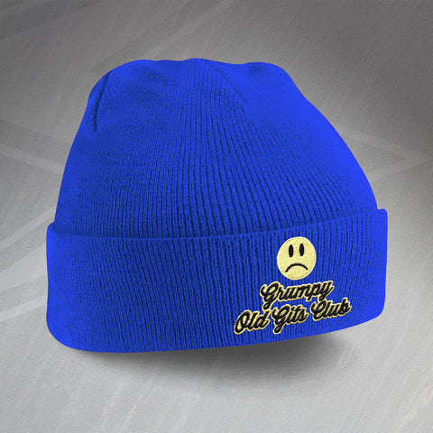 Grumpy Old Git Beanie Hat Embroidered Grumpy Old Gits Club