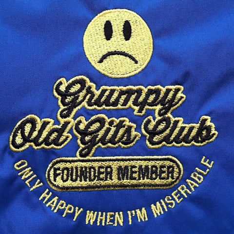 Grumpy Old Git Embroidered Badge