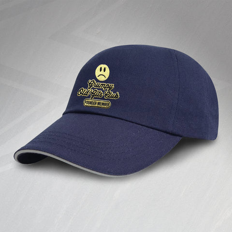 Grumpy Old Git Baseball Cap Embroidered Grumpy Old Gits Club Founder Member
