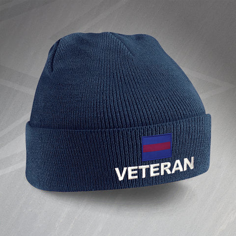 Guards Division Veteran Embroidered Beanie Hat
