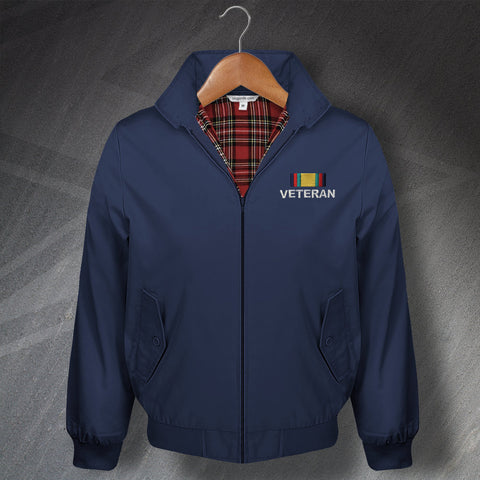 Gulf War Veteran Embroidered Classic Harrington Jacket