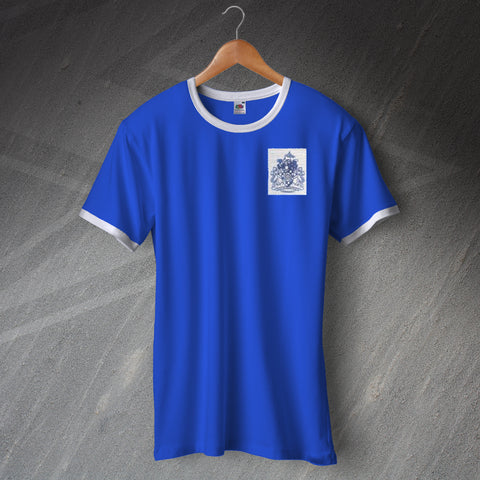 Halifax Football Shirt Embroidered Ringer 1977