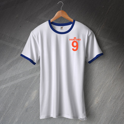 Retro Harford 9 Embroidered Football Ringer Shirt