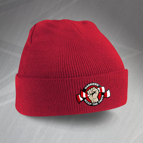 Kidderminster Football Beanie Hat Embroidered Harriers Keep The Faith