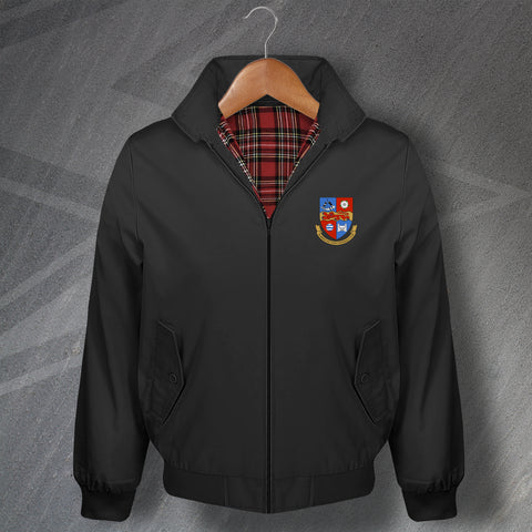 Retro Harrogate Classic Harrington Jacket with Embroidered Badge