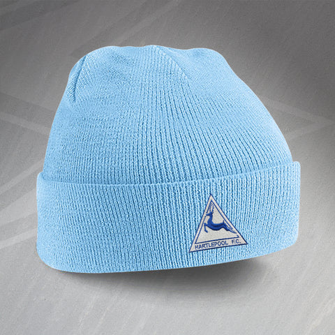 Hartlepool Football Beanie Hat Embroidered 1974