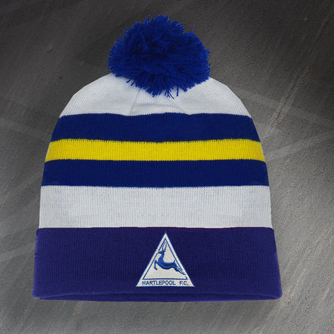 Hartlepool Football Bobble Hat Embroidered 1974