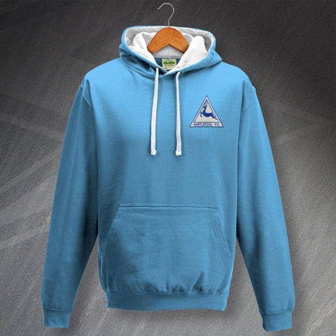 Hartlepool Football Hoodie Embroidered Contrast 1974