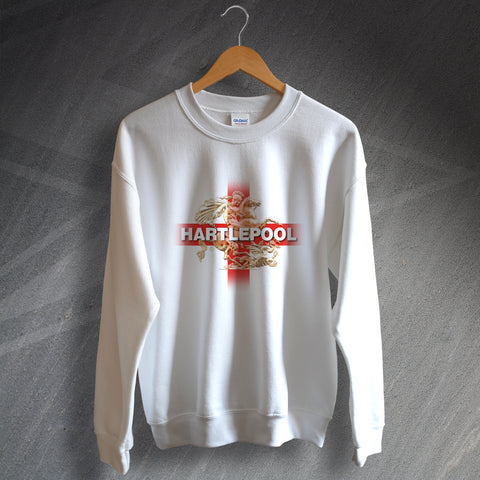 Hartlepool Football Sweatshirt Saint George and The Dragon
