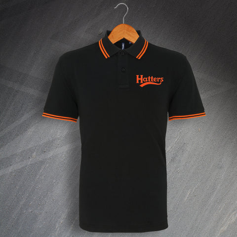 Luton Football Polo Shirt Embroidered Tipped Hatters