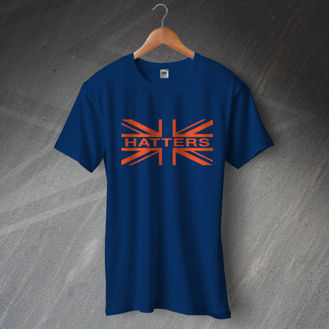 Luton Football T-Shirt Hatters Union Jack