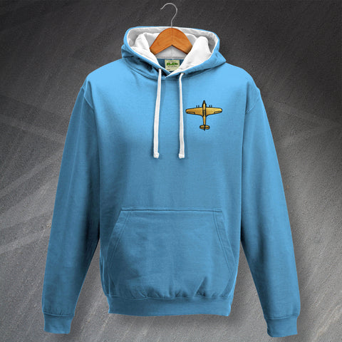 Hawker Hurricane Hoodie Embroidered Contrast