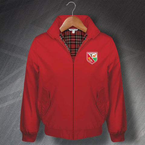 Retro Hayes Classic Harrington Jacket with Embroidered Badge