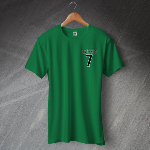 Celtic Football T-Shirt Embroidered Larsson 7