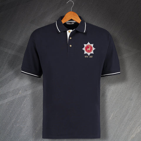 Hertfordshire Fire Service Polo Shirt Embroidered Contrast Personalised Years of Service