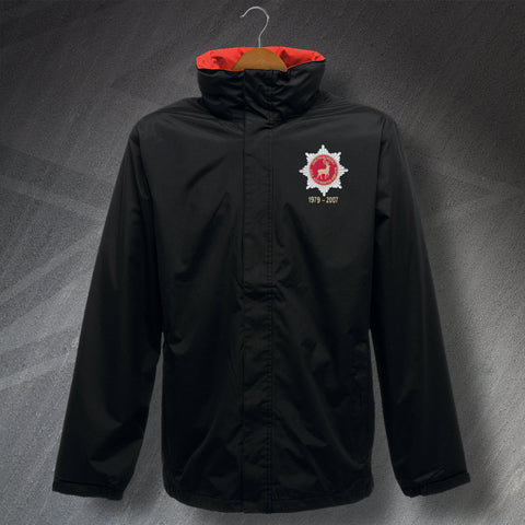 Hertfordshire Fire Service Jacket Embroidered Waterproof Personalised Years of Service