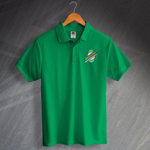 Hibs Football Polo Shirt Embroidered 1989