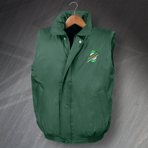 Hibs Football Bodywarmer Embroidered Padded 1989