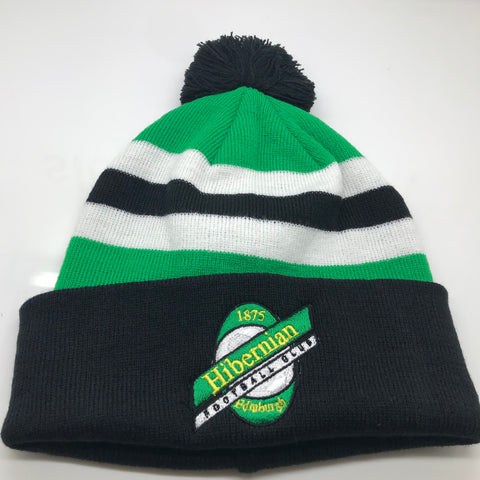 Hibs Football Bobble Hat Embroidered 1989