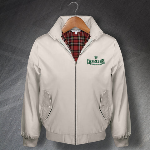 Cabbage & Ribs It's a Way of Life Embroidered Classic Harrington Jacket