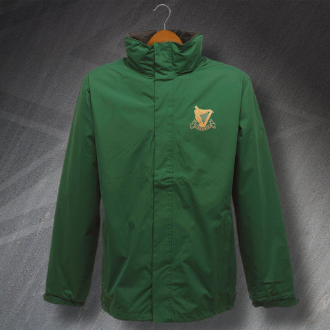 Hibs Football Jacket Embroidered Waterproof 1900s