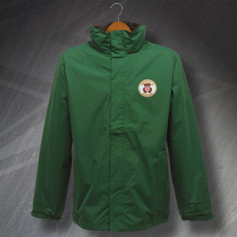 Hibs Football Jacket Embroidered Waterproof 1981