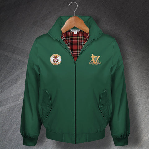 Retro Hibs Classic Harrington Jacket with Embroidered 1980s & 1900s Badges