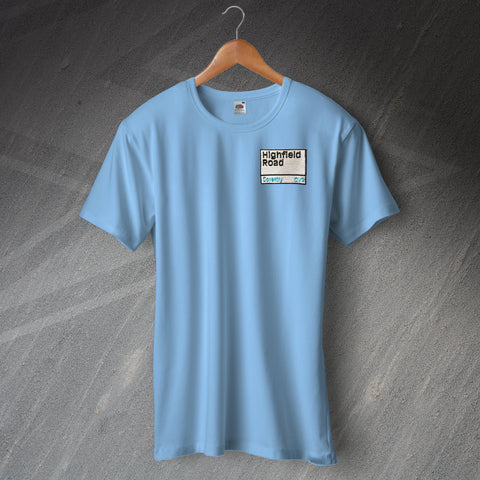 Coventry Football T-Shirt Embroidered Highfield Road