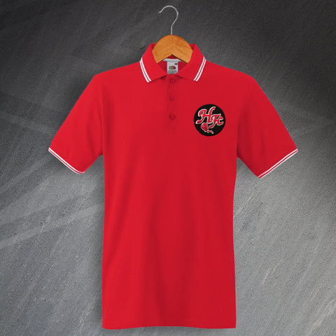 Retro Histon Embroidered Tipped Polo Shirt