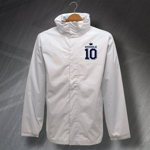 Tottenham Football Jacket Embroidered Waterproof Hoddle 10
