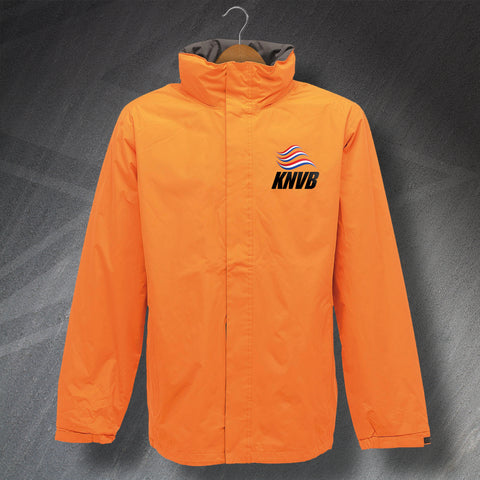 Netherlands Football Jacket Embroidered Waterproof KNVB