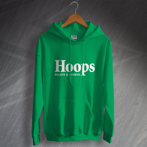 Celtic Football Hoodie Hoops Believe & Achieve