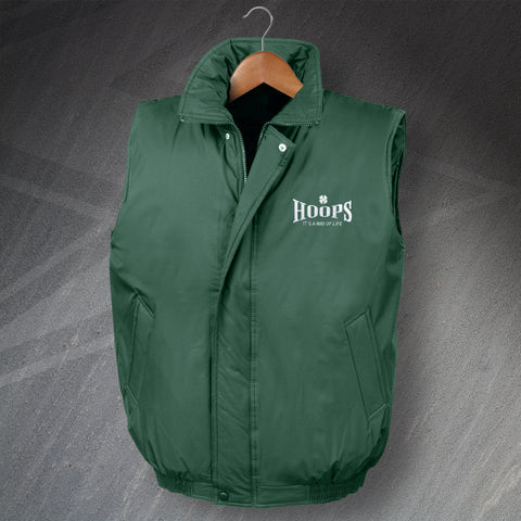 Hoops It's a Way of Life Embroidered Padded Bodywarmer