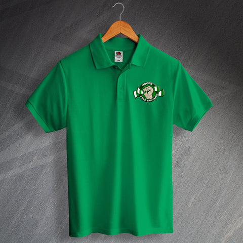 Celtic Football Polo Shirt Printed Keep The Faith