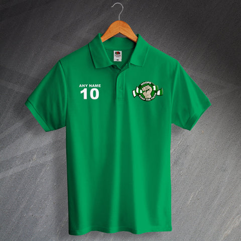 Celtic Football Polo Shirt Printed Personalised Hoops Keep The Faith