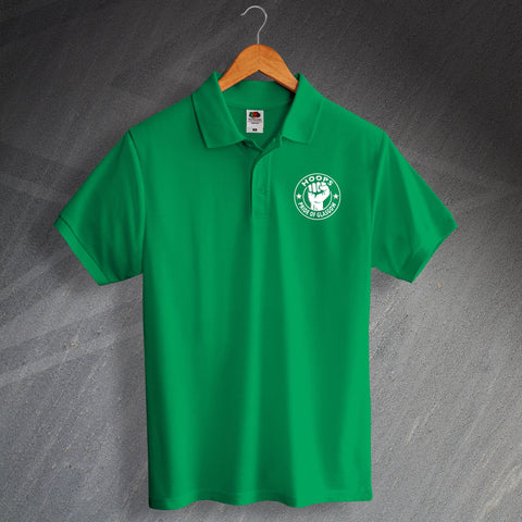 Celtic Football Polo Shirt Printed Hoops Pride of Glasgow