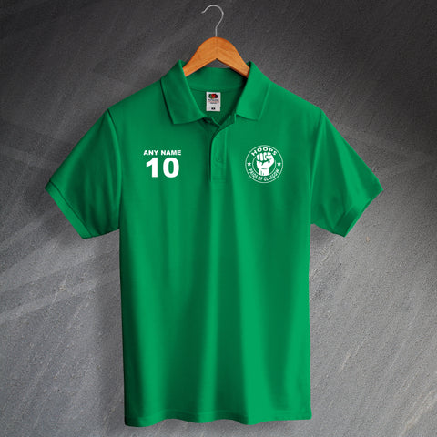 Celtic Football Polo Shirt Printed Personalised Hoops Pride of Glasgow