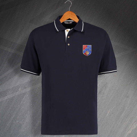 QPR Football Polo Shirt Embroidered Contrast 1953