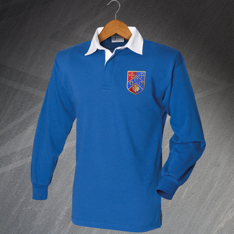 QPR Football Shirt Embroidered Long Sleeve 1953