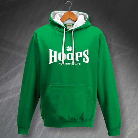 Celtic Football Hoodie Contrast Hoops