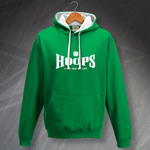 Celtic Football Hoodie Contrast Hoops It's a Way of Life