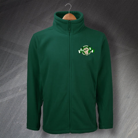 Celtic Football Fleece Embroidered Hoops Keep The Faith